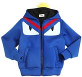 Fendi Monster Neoprene Jacket W/ Fox Fur