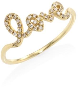 Sydney Evan Love Diamond & 14K Yellow Gold Ring