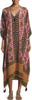 Figue Eliza V-Neck Gypsy Batik-Print Kaftan Coverup