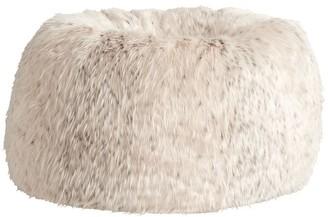 Pottery Barn Teen Snow Cat Faux-Fur Bean Bag Chair