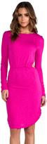 Pencey EXCLUSIVE Long Sleeve Open Back Mini Dress