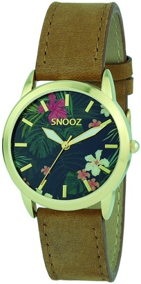 Snooz Women's Analogue Quartz Watch with Leather Strap Spa1039-89