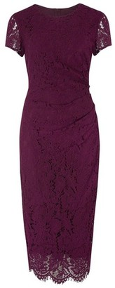 Dorothy Perkins Womens **Paper Dolls Wine Red Lace Bodycon Dress, Red