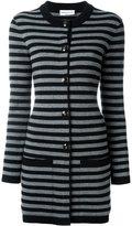 Sonia Rykiel striped long cardigan - women - Cashmere/Virgin Wool - S
