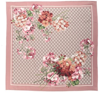 Gucci GG Blooms Printed Scarf
