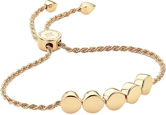Monica Vinader Linear Bead 18ct yellow-gold plated friendship bracelet