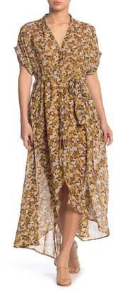 MelloDay High-Low Printed Dress