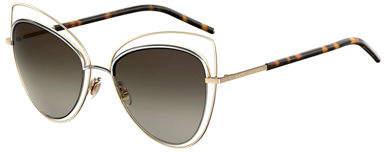 Marc Jacobs Wire-Rim Mirrored Cat-Eye Sunglasses