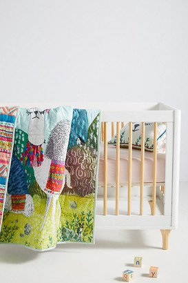 Jane Newland Little Llama Kids Quilt By Jane Newland in Blue Size TW TOP/BED