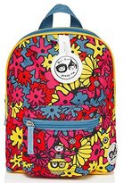 Babymel Kids Mini Backpack Rucksack With Harness & Musical Tag - Floral Brights Design - Suitable From 1-4 Years by