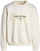 Fear Of God Logo Patch Crewneck Sweatshirt