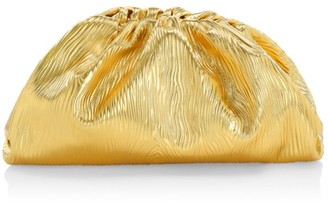 Bottega Veneta Large The Pouch Metallic Leather Clutch