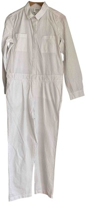 Swildens White Cotton Jumpsuit for Women
