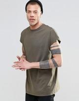 Asos Oversized Sleeveless T-Shirt In Khaki