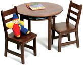 Lipper Walnut Round Table Set