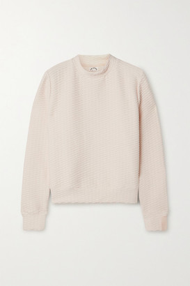 The Upside Inverto Textured Stretch-knit Sweatshirt - Pastel pink