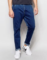 Dr Denim Relaxed Tapered Rusty Chino Mid Blue