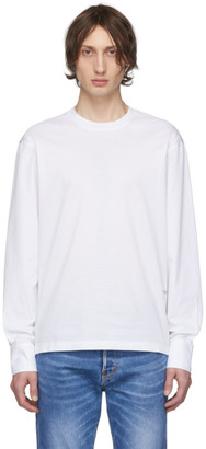 DSQUARED2 White Stud Fit Long Sleeve T-Shirt