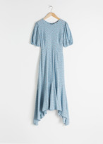 And other stories Cotton Blend Handkerchief Midi Dress
