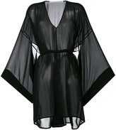 Isabel Benenato flared sleeves sheer dress - women - Silk - 40