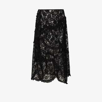 Aiste rose lace tiered skirt