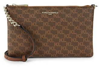 Karl Lagerfeld Paris Faux Leather Crossbody Bag