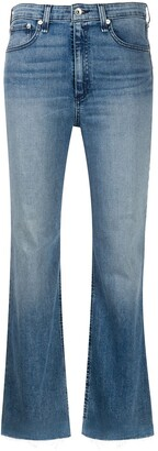 Rag & Bone Faded Cropped Jeans