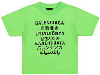Balenciaga Kids Languages cotton T-shirt