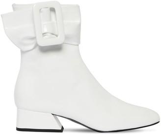 Les Petits Joueurs 40mm Patent Leather Ankle Boots