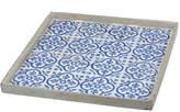 A&B Home 16In Winston Blue Square Decorative Tray