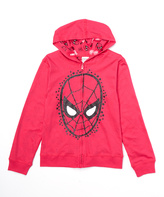 Freeze Pink Spider-Man Reversible Zip-Up Hoodie - Girls