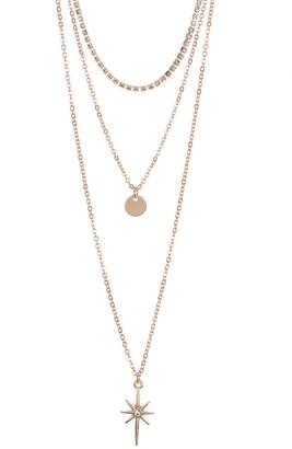 Area Stars North Star Layered Necklace Set