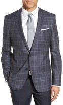BOSS Men's 'Hutch' Trim Fit Plaid Wool Sport Coat