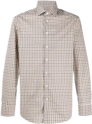 Etro Geometric-Print Long-Sleeve Shirt