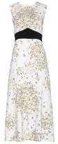 Giambattista Valli Printed Crêpe Dress With Appliqué