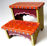 Bohemian Garden Double Step Stool