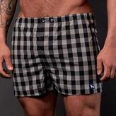 Blade + Blue Black & Grey Grid Boxer Short - Teddy