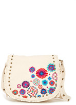Steve Madden Blume Embroidered Messenger Bag