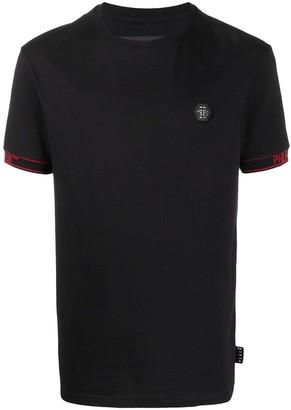 Philipp Plein contrast cuff T-shirt