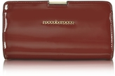 Roccobarocco Signature Patent Eco Leather Clutch