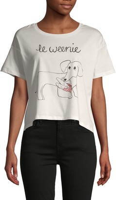 French Connection Le Weenie Cotton T-Shirt