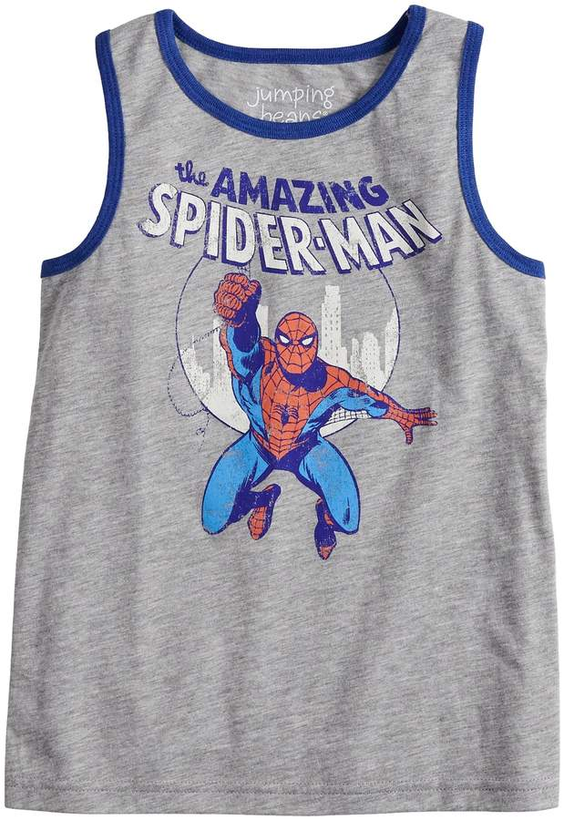 Spiderman Boys 4-14 Jumping Beans Marvel Graphic Tank Top
