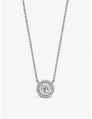 Vashi Halo platinum and 0.25ct diamond necklace
