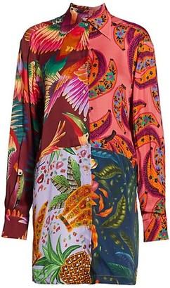 Farm Rio Mix Print Shirtdress