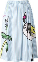Mira Mikati mixed print A-line skirt - women - Cotton/Spandex/Elastane - 38