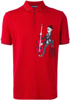 Dolce & Gabbana musician patch polo shirt - men - Cotton/Polyester/Virgin Wool - 46