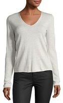 Zadig & Voltaire Strass Skull Merino Wool Sweater, Gray