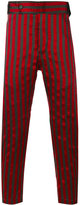 Ann Demeulemeester striped tapered trousers - men - Silk/Cotton/polyester - XS