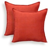 Essentials 2pk Mendon Embossed Suede Throw Pillow