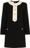 Gucci button-embellished shift mini dress